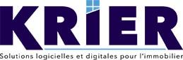 Logo blanc de Krier - Groupe DP Logiciel